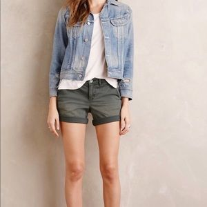 Anthropologie Pilcro Hyphen Gray Chino Shorts